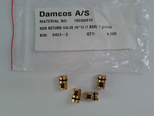 Damcos 160G0410 Non Return Valve # 8* 13 (1 Bar) 1 Groove