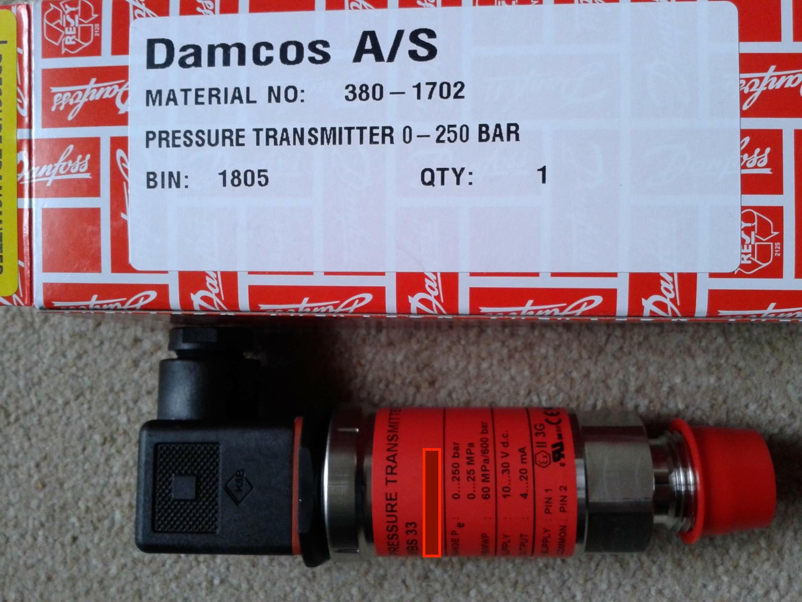 Damcos 380-1702 Pressure Switch