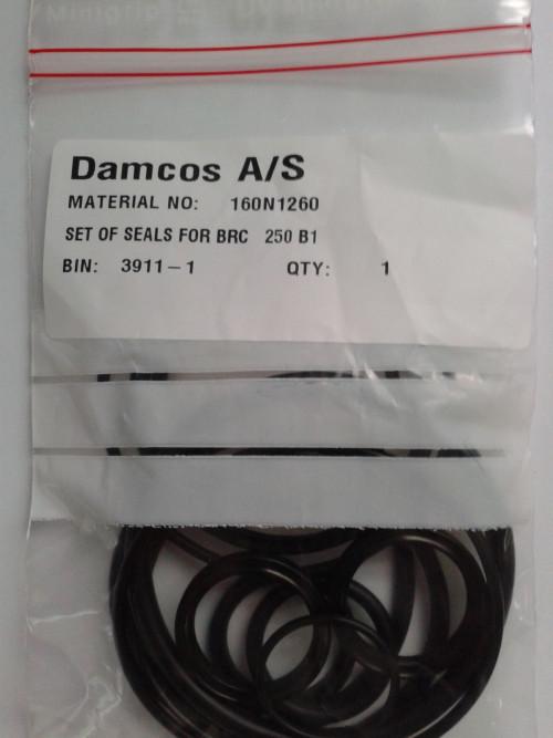 Damcos : Danfoss BRC 250-B1 Actuator Seal Kit 160N1260
