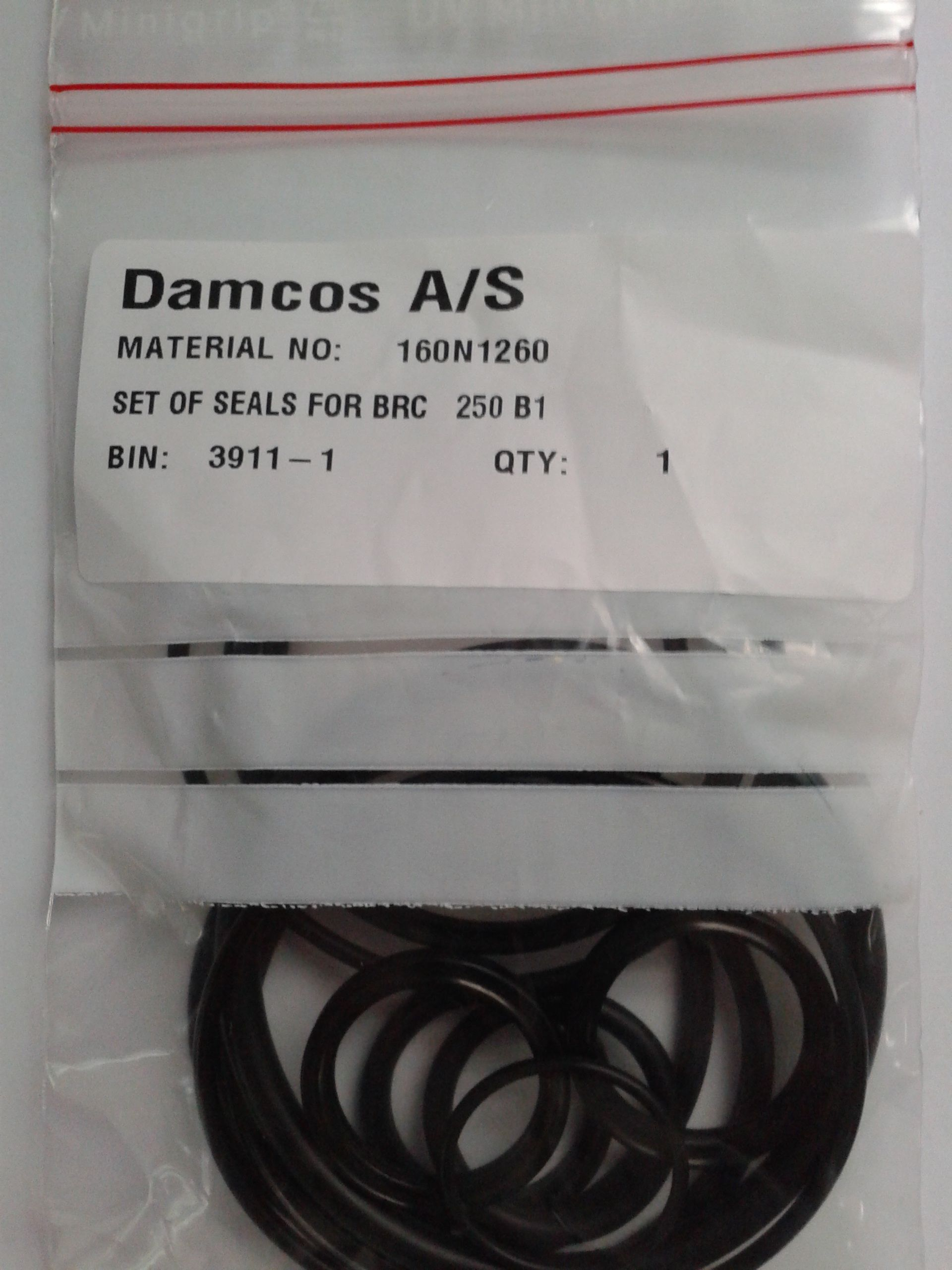 Damcos-Danfoss-BRC-250-B1-Actuator-Seal-Kit-160N1260-