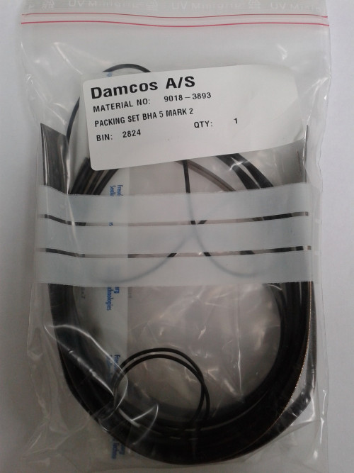 Damcos : Danfoss : Nordisk BHA 5 MK2 Actuator Packing Set:Seal kit 9018-3893