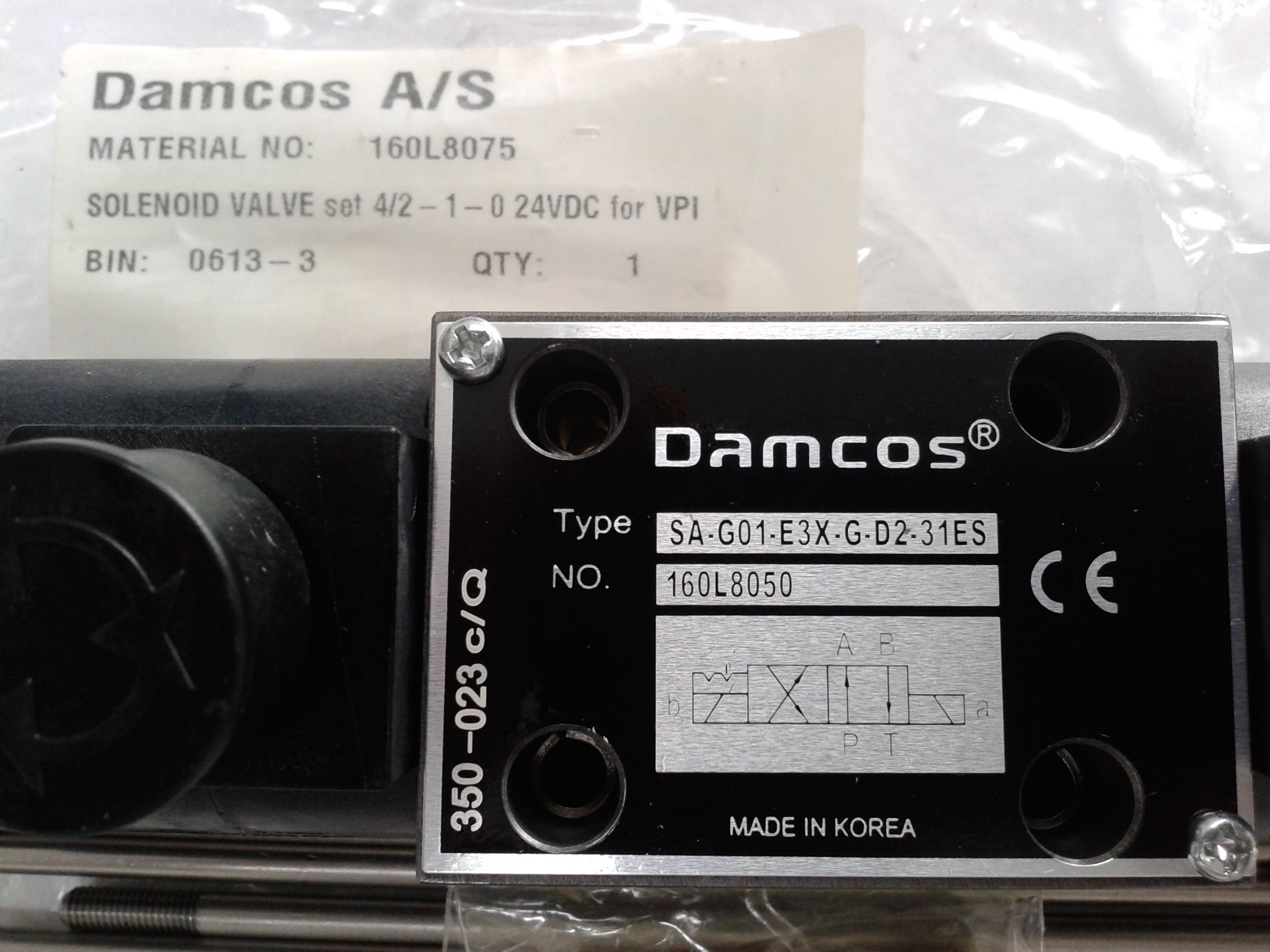 Damcos : Danfoss Solenoid Valve 160L8050 (160L8075)