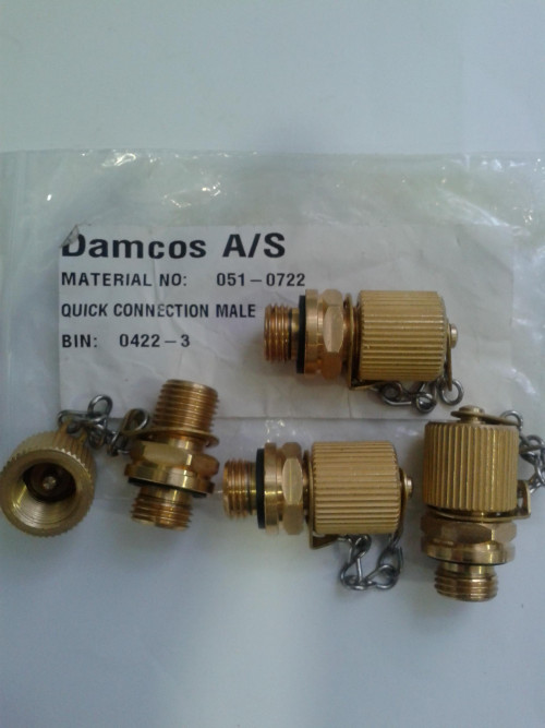 Damcos PHP Hose Connector Quick Connection Male HS-3 Part No. 051-0722