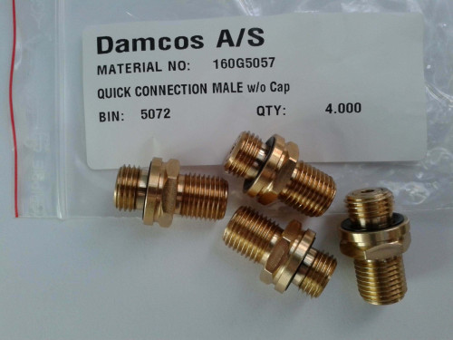 Damcos 160G5057 Quick Connect Male w:o Cap