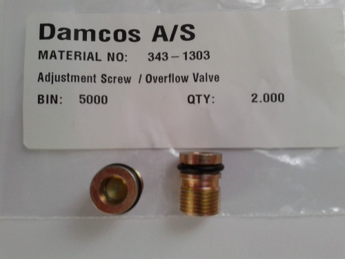 Damcos 343-1303 Adjustment Screw Overflow Valve
