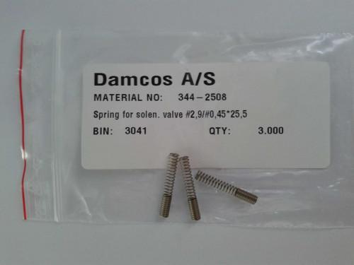 Damcos 344-2508 Spring for Solenoid Valve