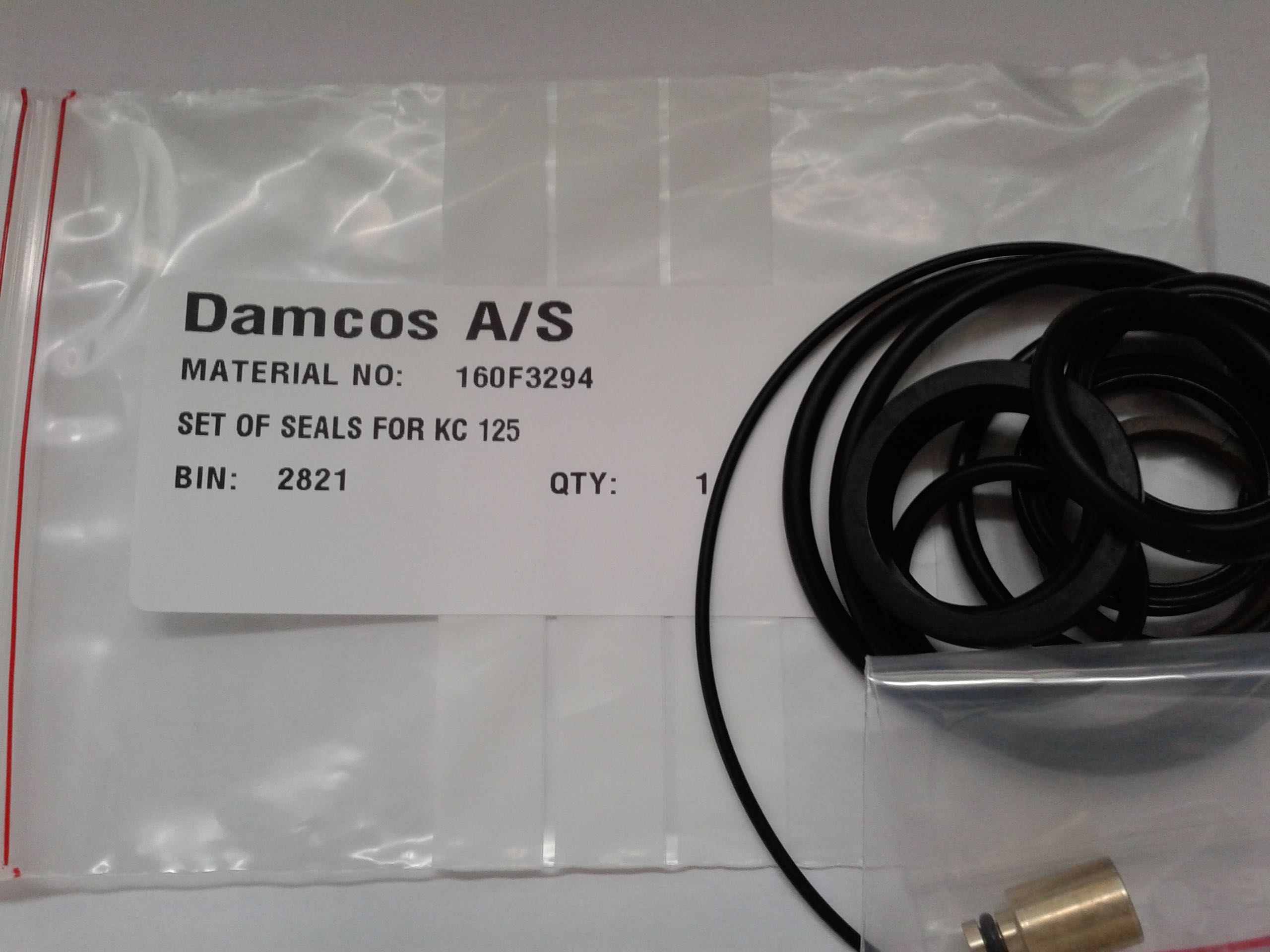 Damcos : Danfoss KC 125 Actuator Seal Kit 160F3294
