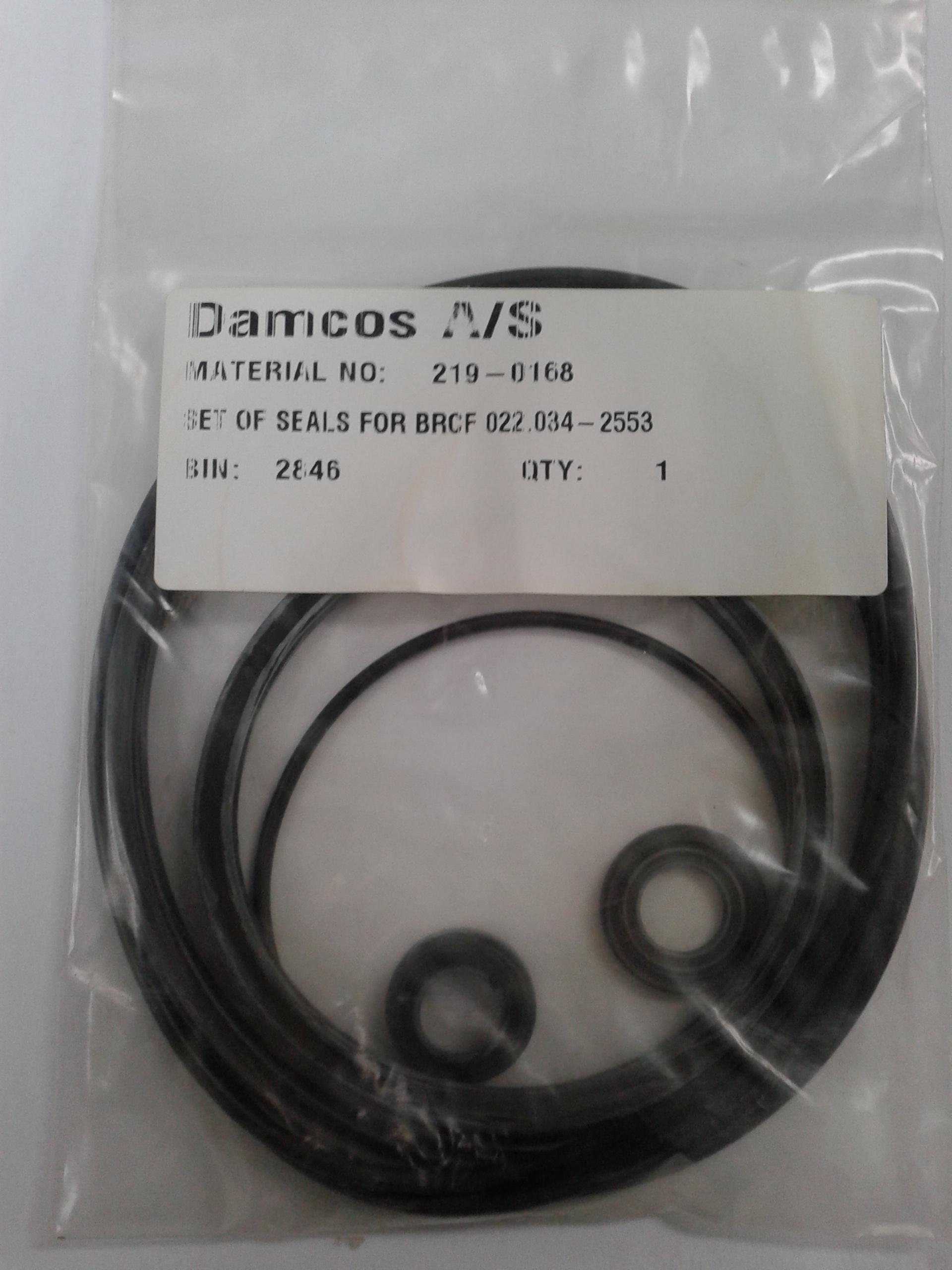 Damcos:Danfoss BRCF 022.34-2553 Seal:Packing Kit. Part no- 219-0168