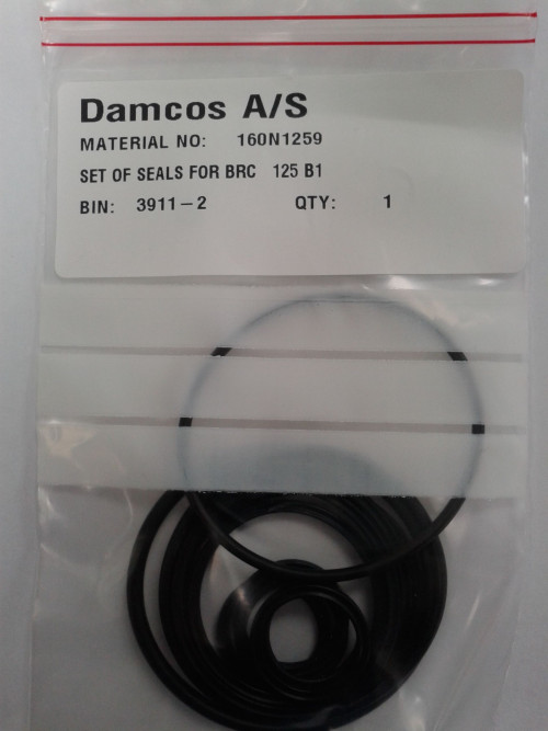 Damcos Actuator Seal Kit Set of Seals:packing For BRC 125 B1 Actuator Comprising of positions- 9,10.,11,12,13,14,15,25 & 33 Part No. 160N1259