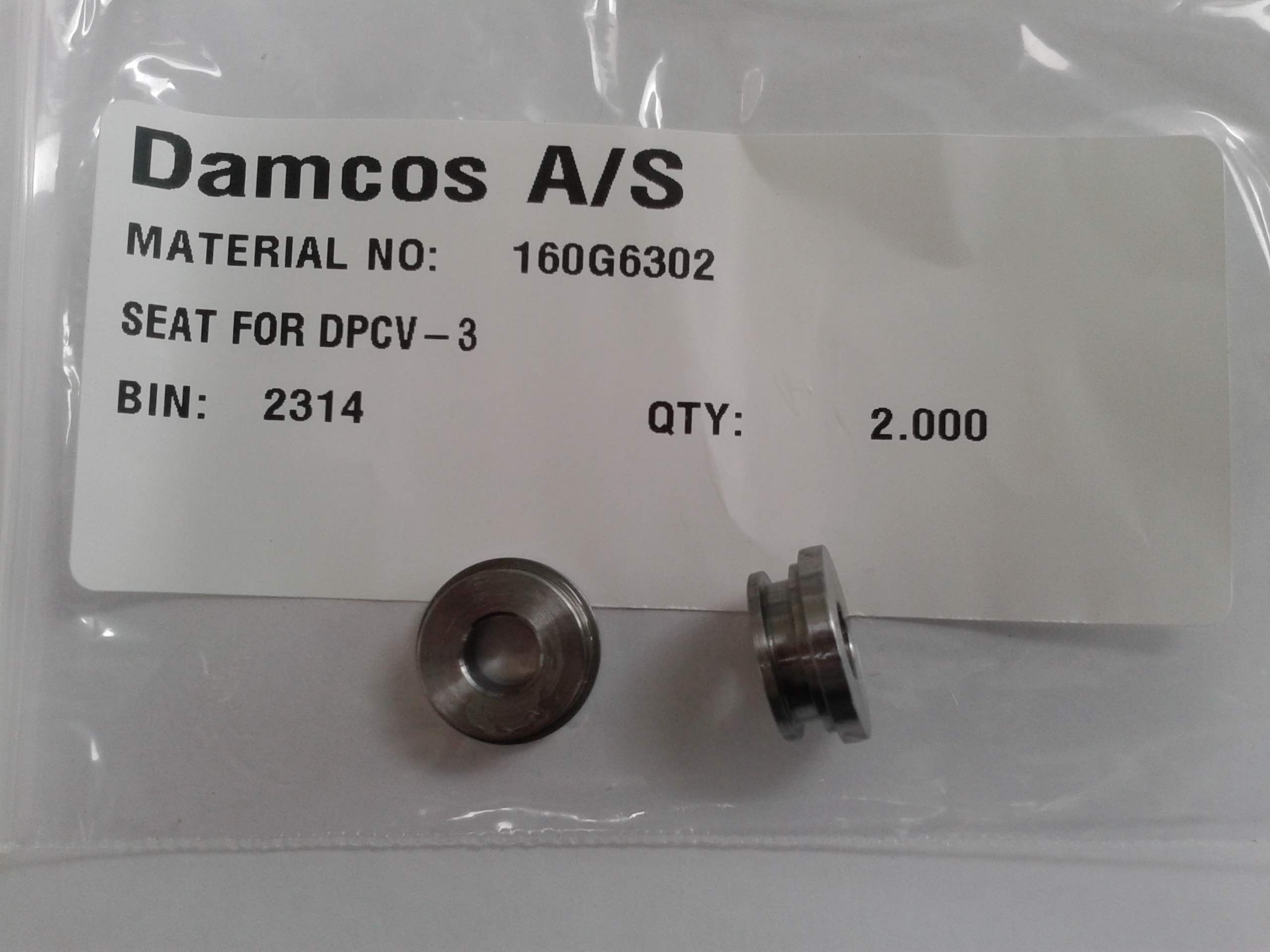 Damcos: Danfoss DPCV-3 Seat, Part No- 160G6302