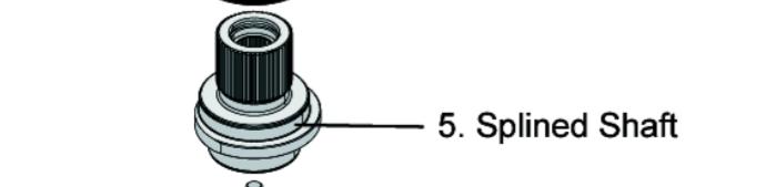 160N0786 BRC 500 Splined shaft