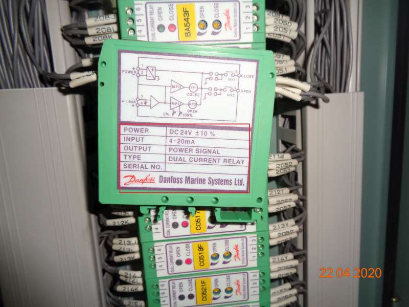DUAL CURRENT RELAY 522-5000