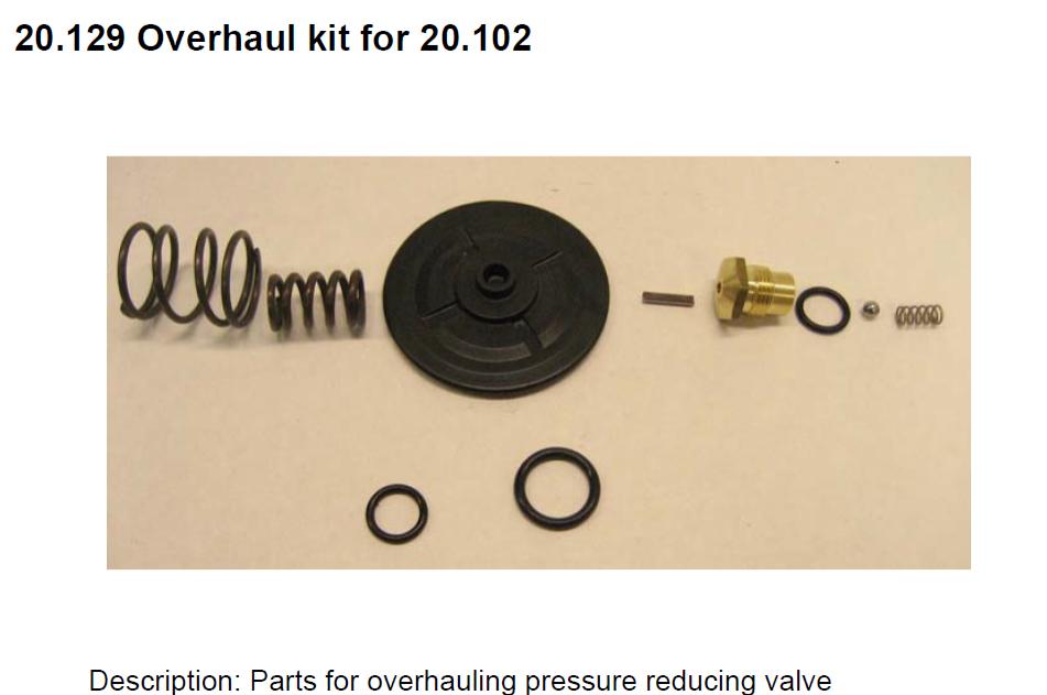 20.129 Overhaul Kit for 20.102