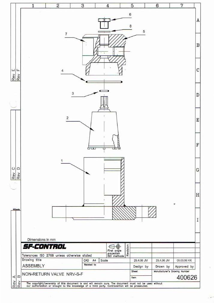 SF Control Leveldatic NRV-S-F Drawing 400626