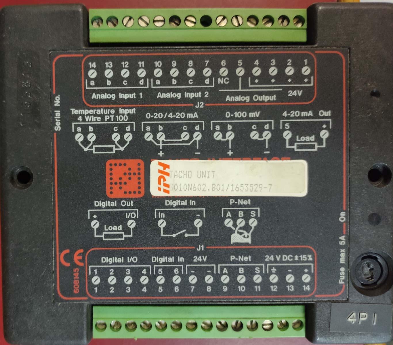 Speed Converter Tacho Unit 1653529-7