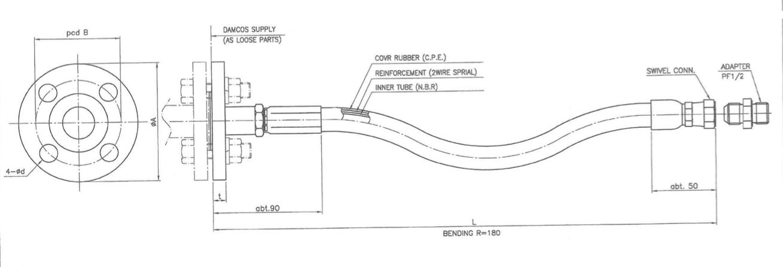 Flexible Hose JIS 10K F-Type Flange H009-40