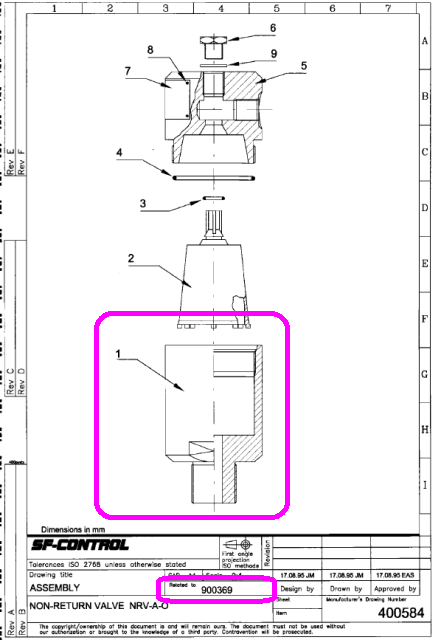 non return valve Drawing 2 400584